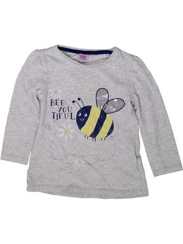 T-shirt manches longues fille F&F gris 3 ans hiver #1369532_1