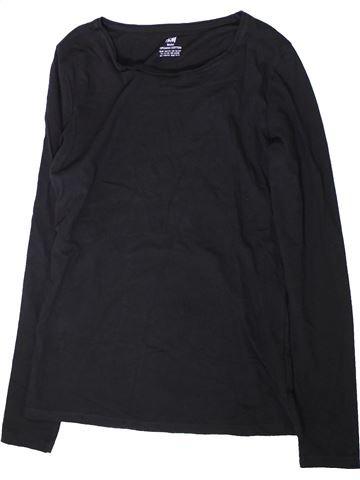 T-shirt manches longues garçon H&M bleu foncé 14 ans hiver #1369534_1