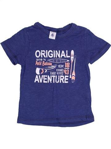 Camiseta de manga corta niño PETIT BATEAU violeta 4 años verano #1369769_1