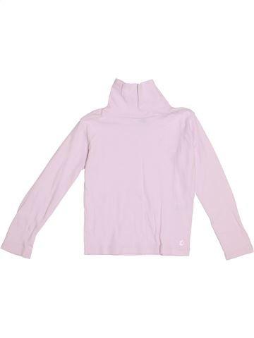T-shirt col roulé fille PETIT BATEAU rose 6 ans hiver #1369776_1