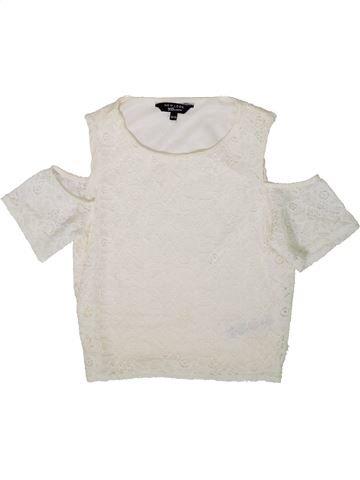 Blouse manches courtes fille NEW LOOK blanc 13 ans été #1370091_1