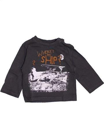 T-shirt manches longues garçon BOBOLI noir 6 mois hiver #1370217_1