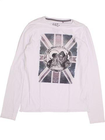 T-shirt manches longues garçon TEDDY SMITH blanc 14 ans hiver #1370228_1
