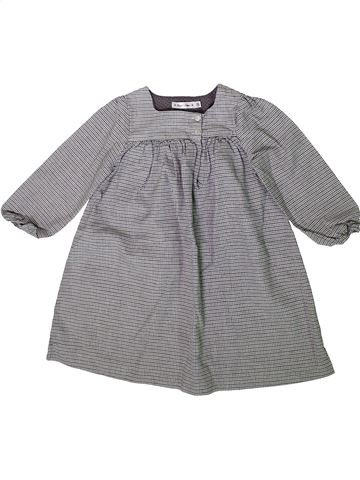 Robe fille BOUT'CHOU gris 3 ans hiver #1370377_1