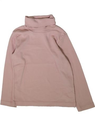 T-shirt col roulé fille PETIT BATEAU rose 4 ans hiver #1370396_1