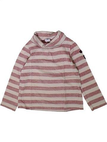 T-shirt col roulé fille PETIT BATEAU marron 4 ans hiver #1370404_1