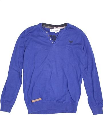 Pull garçon KAPORAL bleu 14 ans hiver #1370425_1