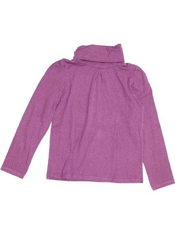 Camiseta de cuello alto niña VERTBAUDET rosa 10 años invierno #1370464_1