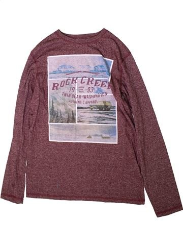 T-shirt manches longues garçon H&M violet 14 ans hiver #1370634_1