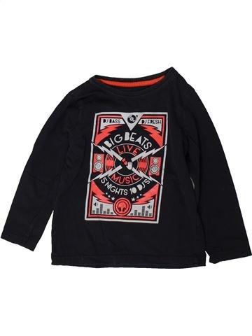 T-shirt manches longues garçon ORCHESTRA noir 4 ans hiver #1370679_1