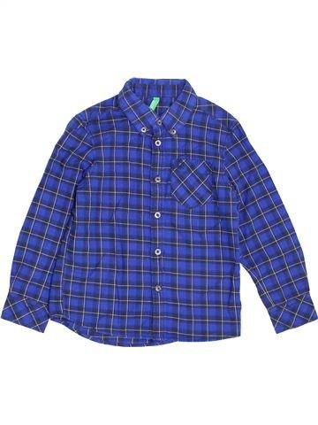 Camisa de manga larga niño BENETTON azul 5 años invierno #1370784_1