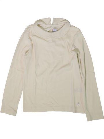 Camiseta de manga larga niña PETIT BATEAU blanco 5 años invierno #1370886_1