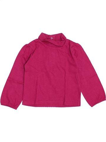 Camiseta de cuello alto niña GEMO rosa 3 años invierno #1370938_1