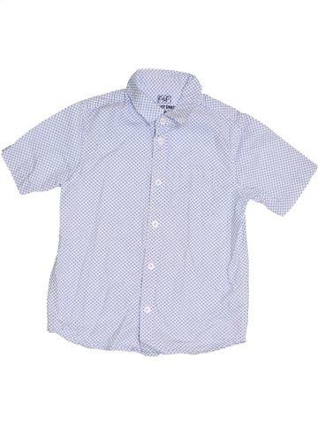 Chemise manches courtes garçon F&F bleu 8 ans été #1370944_1