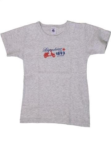 T-shirt manches courtes garçon PETIT BATEAU gris 8 ans été #1371009_1