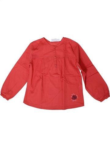 Blouse manches longues fille KIABI rouge 5 ans hiver #1371068_1