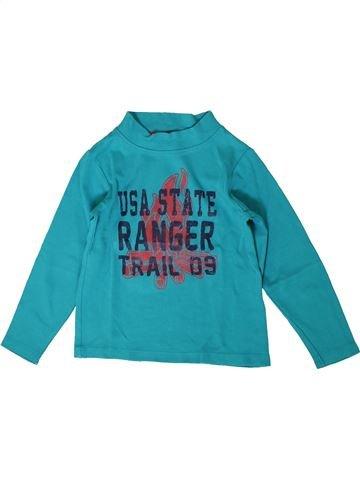 T-shirt manches longues garçon ORCHESTRA bleu 5 ans hiver #1371126_1