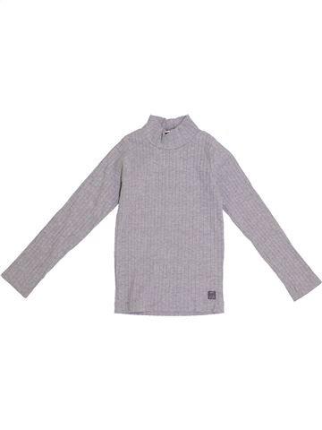 T-shirt manches longues fille LILI GAUFRETTE gris 6 ans hiver #1371137_1