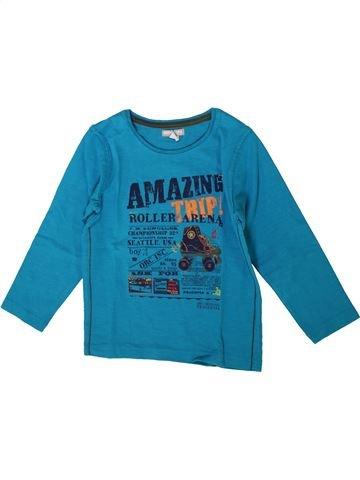 T-shirt manches longues garçon ORCHESTRA bleu 4 ans hiver #1371146_1