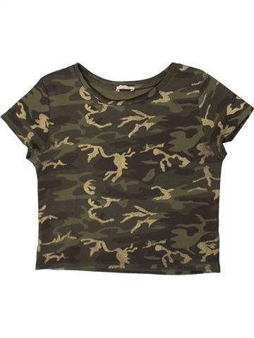 T-shirt manches courtes fille KYLIE marron 13 ans été #1371338_1