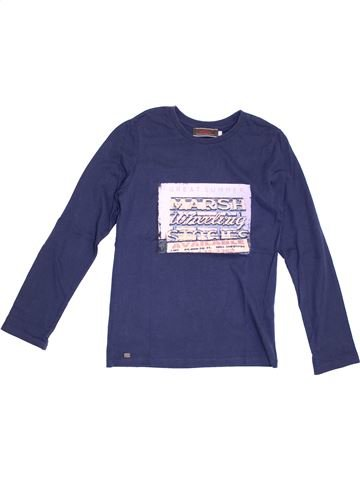 T-shirt manches longues garçon CATIMINI bleu 10 ans hiver #1371401_1