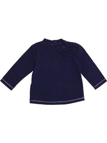T-shirt manches longues fille WEEK END A LA MER bleu 6 mois hiver #1371432_1