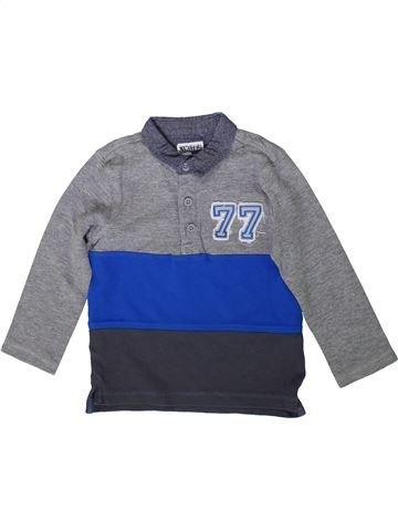 Polo manches longues garçon F&F gris 4 ans hiver #1372049_1