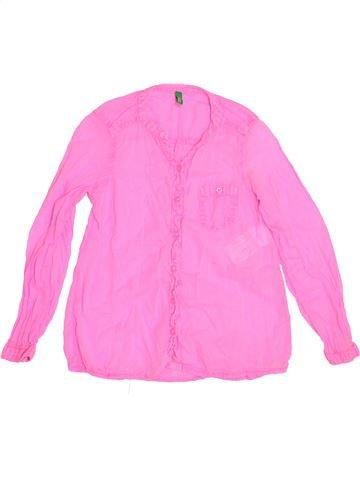 Blusa de manga larga niña BENETTON rosa 7 años invierno #1372450_1
