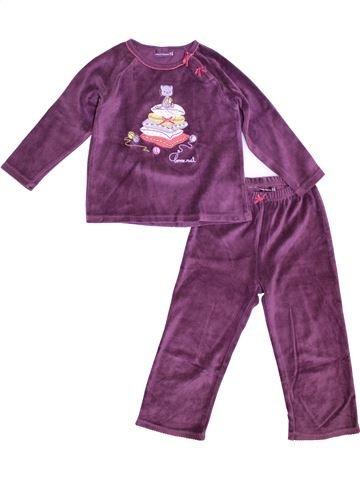 Pijama de 2 piezas niña SERGENT MAJOR violeta 4 años invierno #1372855_1