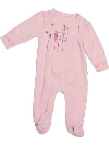 Pyjama 1 pièce fille VERTBAUDET rose 6 mois hiver #1373070_1