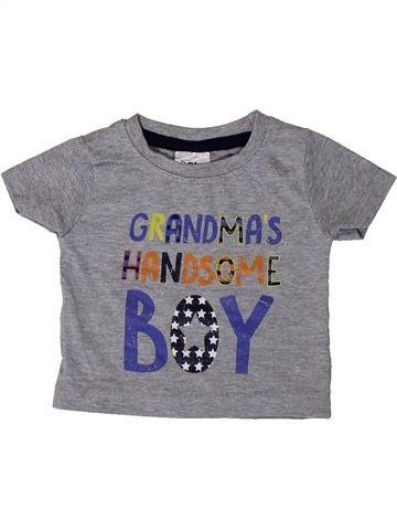 T-shirt manches courtes garçon BABY gris 3 mois été #1373364_1