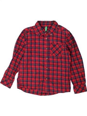 Camisa de manga larga niño BENETTON violeta 5 años invierno #1374051_1