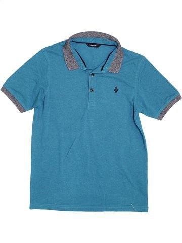 Polo de manga corta niño GEORGE azul 12 años verano #1374100_1