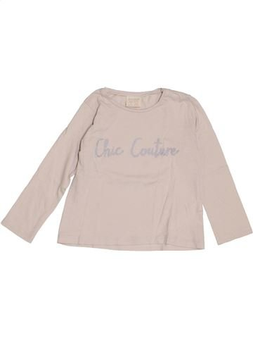 Camiseta de manga larga niña ZARA rosa 4 años invierno #1374581_1