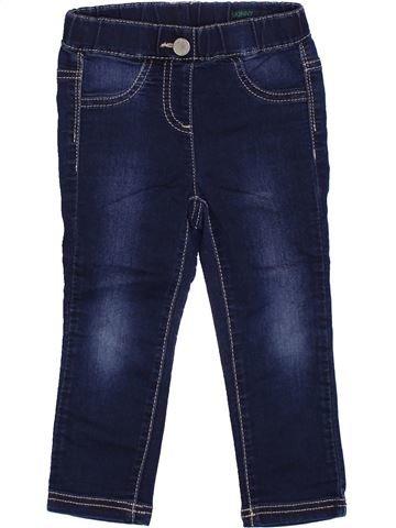Pantalon fille BENETTON bleu 2 ans hiver #1374782_1