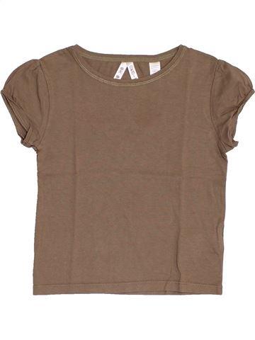 Camiseta de manga corta niña OKAIDI marrón 4 años verano #1375319_1