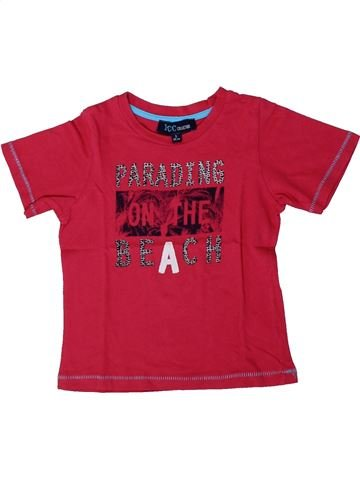 T-shirt manches courtes garçon YCC-214 rouge 3 ans été #1375507_1