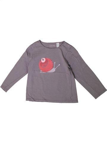 Camiseta de manga larga niña OKAIDI gris 3 años invierno #1375536_1