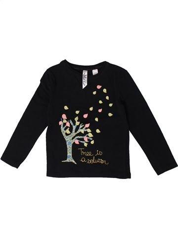 Camiseta de manga larga niña OKAIDI negro 3 años invierno #1375538_1