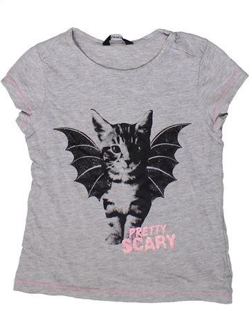 T-shirt manches courtes fille GEORGE gris 7 ans été #1376336_1
