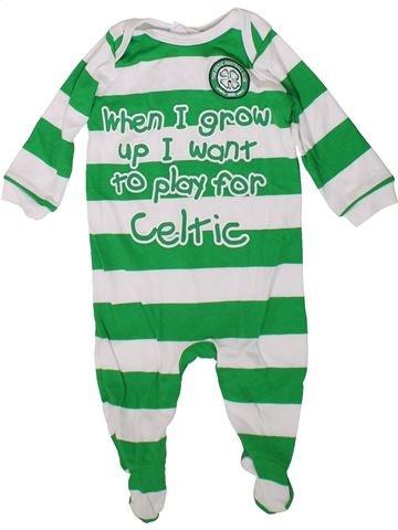 Pyjama 1 pièce garçon CELTIC FOOTBALL CLUB vert 6 mois été #1376513_1