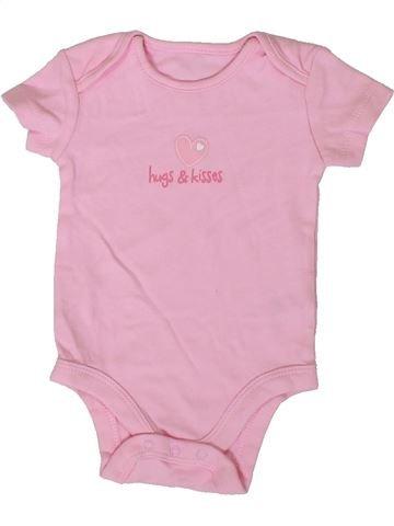 Camiseta de manga corta niña BABY rosa 3 meses verano #1376844_1