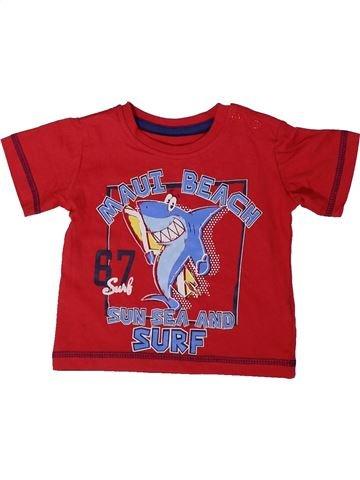 T-shirt manches courtes garçon DUNNES STORES rouge 9 mois été #1377019_1