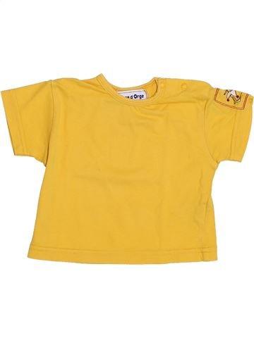 Camiseta de manga corta niño SUCRE D'ORGE amarillo 3 meses verano #1379333_1