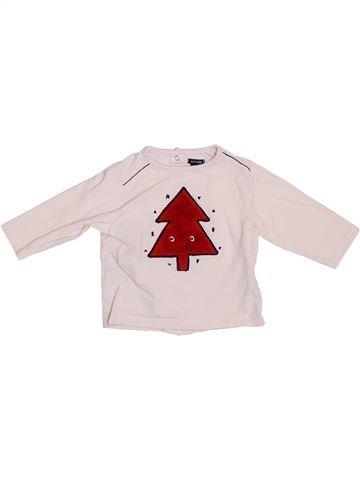 T-shirt manches longues fille KIABI blanc 6 mois hiver #1380714_1