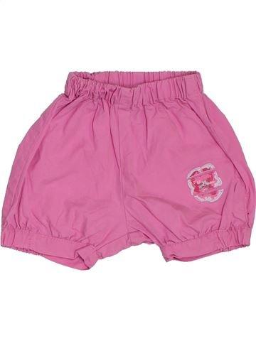 Short - Bermuda fille P'TIT BISOU violet 12 mois été #1380969_1