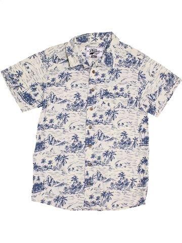Chemise manches courtes garçon MATALAN blanc 11 ans été #1381158_1