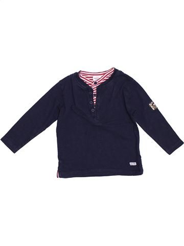 T-shirt manches longues garçon TAPE À L'OEIL bleu 2 ans hiver #1381804_1