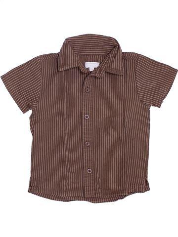Chemise manches courtes garçon KIMBALOO marron 18 mois été #1381942_1