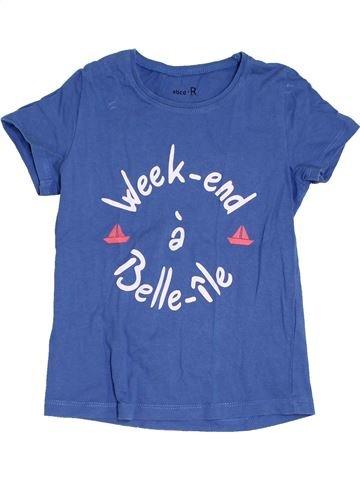T-shirt manches courtes fille LA REDOUTE CRÉATION bleu 5 ans été #1383235_1